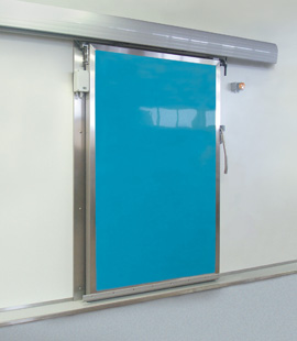 porte isotherme coulissante en polyester